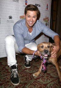 Andrew Rannells backstage during Broadway Barks 15. (Photo by Walter McBride/WireImage)